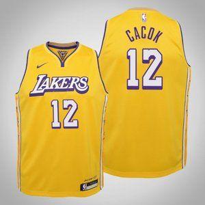 Women Lakers #12 Devontae Cacok City Jersey